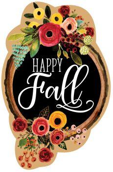 Fall Floral Wreath Door Hanger