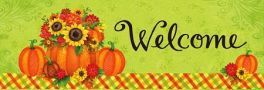 Pumpkin Floral Signature Sign