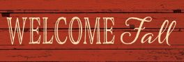 Welcome Fall Signature Sign
