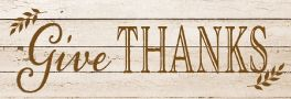 Give Thanks Signature Sign