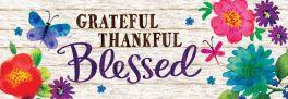 Grateful Thankful Blessed Signature Sign