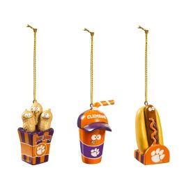 Clemson University Snack Pack Ornaments