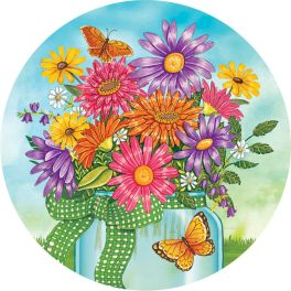 Colorful Daisies Accent Magnet