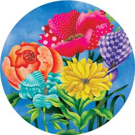 Patterned Posies Accent Magnet