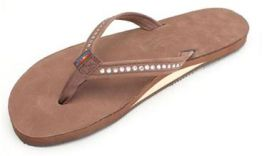 Ladies X-Large Expresso Crystal Rainbow Sandals
