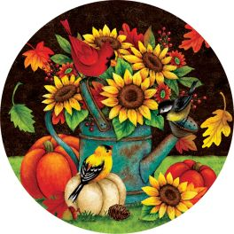 Sunflowers & Birds Accent Magnet