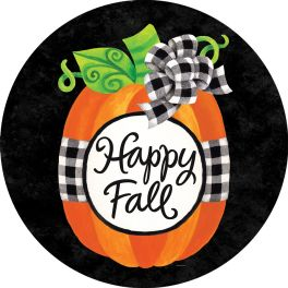 Gingham Pumpkin Accent Magnet