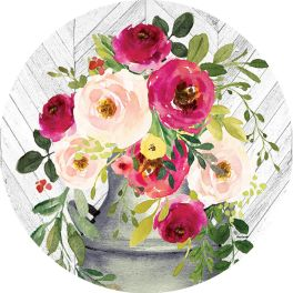 Milk Can Flowers Accent Magnet