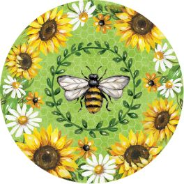 Bumblebee Sunflowers Accent Magnet