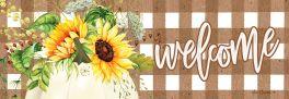 Sunflower Pumpkin Signature Sign