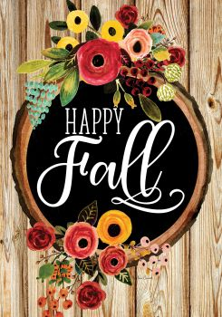 Fall Floral House Flag