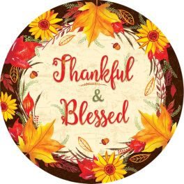 Thankful & Blessed Accent Magnet