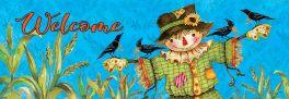 Gingham Scarecrow Signature Sign