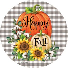 Pumpkins & Cotton Accent Magnet