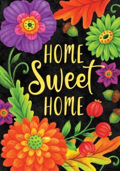 Home Sweet Home Flowers House Flag
