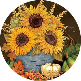 Sunflowers & Gourds Accent Magnet