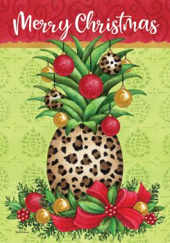 Pineapple Christmas Garden Flag