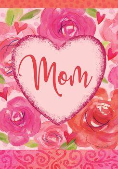 Mom Heart Garden Flag