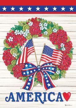 Flag Wreath Garden Flag