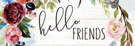 Hello Friends Signature Sign