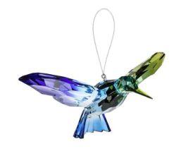 Hummingbird Decorative Acrylic Ornament - Teal/Blue