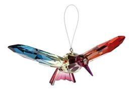 Hummingbird Decorative Acrylic Ornament - Green/Fuchsia