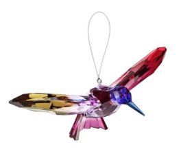 Hummingbird Decorative Acrylic Ornament - Purple/Fuchsia