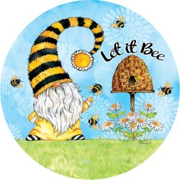 Gnome And Bees Stepping Stone