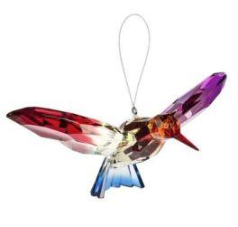 Hummingbird Decorative Acrylic Ornament - Yellow/Blue