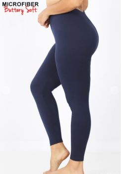 On The Run Plus Leggings - Navy