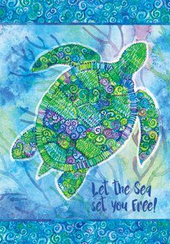 Boho Turtle Garden Flag