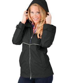 Black New Englander Rain Jacket