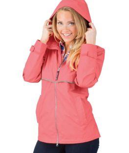Coral New Englander Rain Jacket