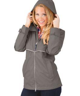 Grey New Englander Rain Jacket