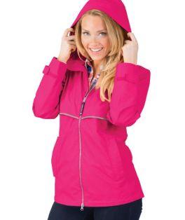Hot Pink New Englander Rain Jacket