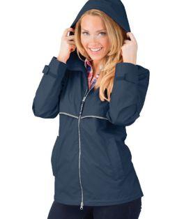True Navy New Englander Rain Jacket
