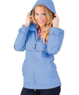 Periwinkle New Englander Rain Jacket