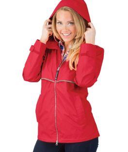 Red New Englander Rain Jacket