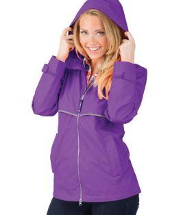 Violet New Englander Rain Jacket