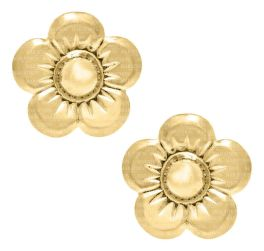 Kids 14K Gold Filled Flower Safety Earrings
