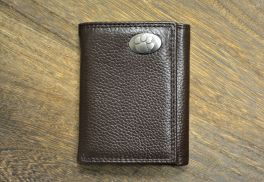Brown Trifold Clemson Wallet