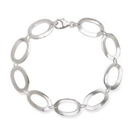 Sterling Silver Open Oval Bracelet