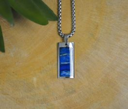 Siberian Blue Agate Necklace