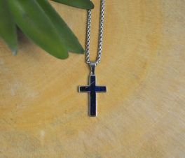 Stainless Steel Box Elder Cross Necklace