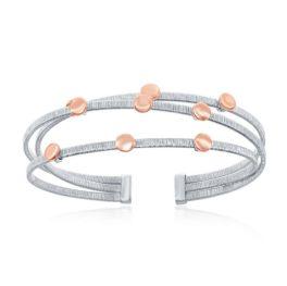 Sterling Silver Triple Wire Bangle Bracelet
