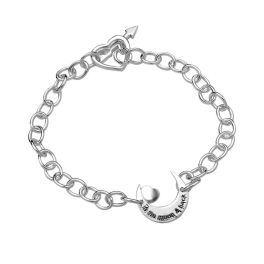 Sterling Silver To The Moon & Back Bracelet