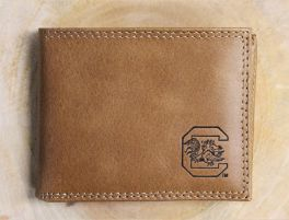 USC Embossed Leather Bifold Wallet