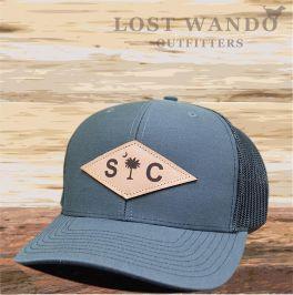 SC Diamond Palmetto Hat - Charcoal & Black