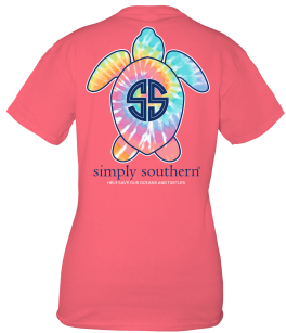 Simply Southern Save The Turtles Logo Tie-Dye Short Sleeve T-Shirt - YOUTH