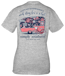 Simply Southern Somewhere Short Sleeve T-Shirt - YOUTH